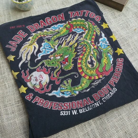 Chicago Tattoo Shop T Shirt Xl Dragon